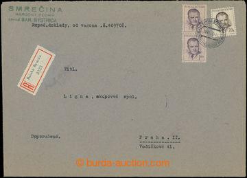 207960 - 1953 NOVÁ MĚNA - 1. DEN / 19.VI.1953 - FDC  R-dopis do 250g