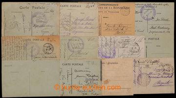 207962 - 1917-1919 FRANCIE / sestava 25ks lístků adresovaných na nebo