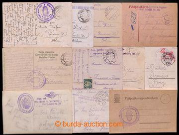 207974 - 1917-1918 CHORVATSKÉ ÚTVARY V R-U ARMÁDĚ  sestava 11ks lístk