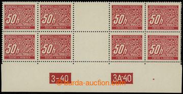 207979 - 1939 Pof.DL6, hodnota 50h, 4-zn. meziarší se vzácným DČ 3-40