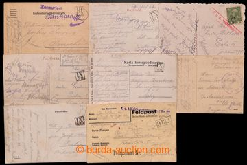 207982 - 1914-1916 OKRESNÍ RAZÍTKA - TARNSTEMPEL  sestava 8ks líst