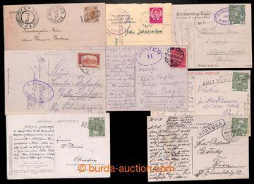 207998 - 1899-1936 LODNÍ POŠTA / sestava 8ks pohlednic přepravených l