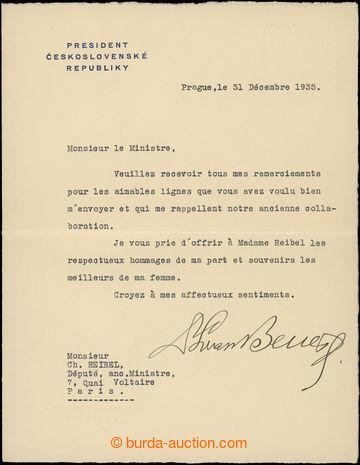 208075 - 1935 BENEŠ Edward (1884–1948), the second Czechoslovak Presi