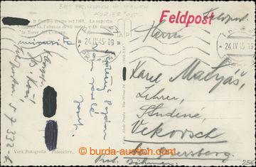 208138 - 1945 ITÁLIE / pohlednice zaslaná z Itálie do Protektorátu čs