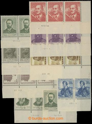 208155 - 1952-1956 DATA TISKU / Pof.679, 702, 768, 798, 806, 894, 898