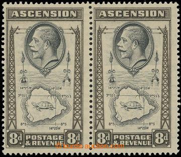 208210 - 1934 ASCENSION  SG.27+27a, Jiří V. Mapa 8P s hledanou DV TEA