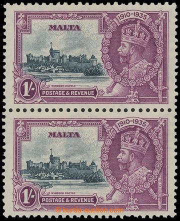 208213 - 1935 SG.213+213a, Jubilejní Jiří V. 1Sh, svislá 2-páska, hor