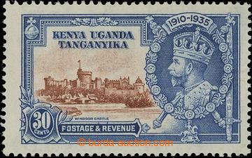 208215 - 1935 SG.125f, Jubilejní Jiří V. 30C s DV DIAGONAL LINE BY TU