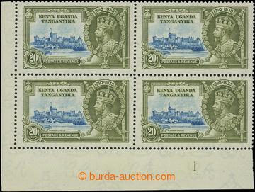 208217 - 1935 SG.124+124f, Jubilejní Jiří V. 20C, levý dolní rohový 4