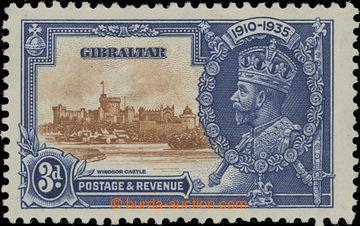 208220 - 1935 SG.115a, Jubilejní Jiří V. 3P s DV - EXTRA FLAGSTAFF; k