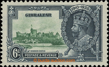 208221 - 1935 SG.116c, Jubilee George V. 6P with plate variety - LIGH