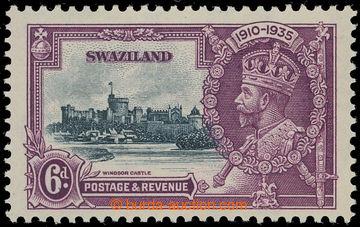 208229 - 1935 SG.24b, Jubilejní Jiří V. 6P s DV - SHORT EXTRA FLAGSTA
