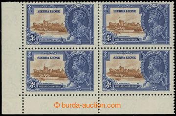 208231 - 1935 SG.182+182a, Jubilejní Jiří V. 3P, levý dolní rohový 4-