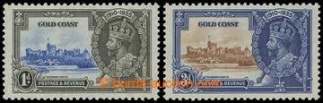 208239 - 1935 SG.113c, 114c, Jubilejní Jiří V. 1P a 3P, obě zn. s DV