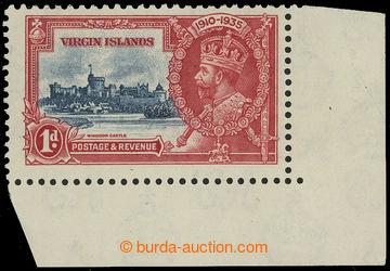 208241 - 1935 SG.103k, Jubilejní Jiří V. 1P, rohový kus s DV KITE AND