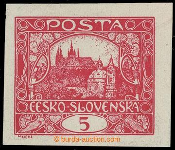 208248 -  ZT  hodnoty 5h v červené barvě na křídovém papíru; zk. Mahr