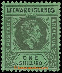 208260 - 1938-1951 SG.110a, Jiří VI. 1Sh černá / smaragdová s DV DI F