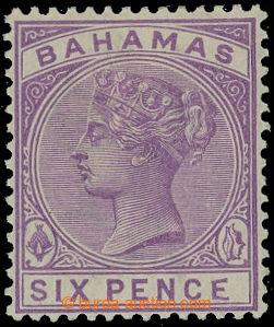 208279 - 1884-1890 SG.54a, Viktorie 6P fialová s DV - deformované E v