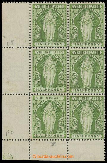 208281 - 1899 SG.43a+43b+43, Alegorie ½P žluto-zelená, levý doln
