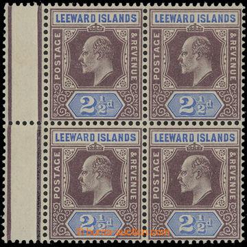 208282 - 1902 SG.23+23a, Edvard VII. 2½P, 4-blok s meziarším, le