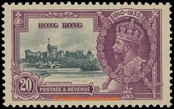 208284 - 1935 HONGKONG  SG.136e, Jubilejní Jiří V. 20C s DV DOUBLE FL