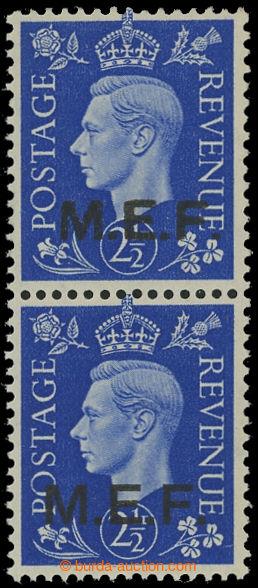 208314 - 1943 Britská okupace MIDDLE EAST FORCES, SG.M8b, svislá 2-pá