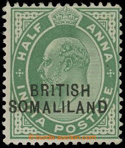 208315 - 1903 SG.25b, Edvard VII. ½A zelená, chybotisk BR1TISH;