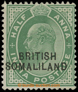 208315 - 1903 SG.25b, Edward VII. ½A green, printing error BR1TI