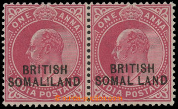 208316 - 1903 SG.26+26d, Edward VII. 1A red, horizontal pair, right s