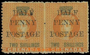 208324 - 1888-1891 SG.43+43a, přetisková Viktorie ½P/2Sh oranžov