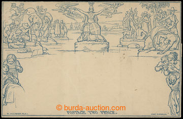 208326 - 1840 SG.ME3, Mulready's letter sheet 2P blue, a98; in good c