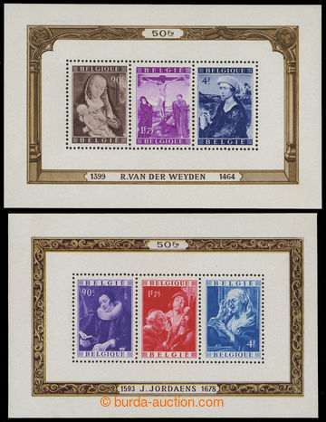208328 - 1949 Mi.Bl.21-22, souvenir sheets Jordaens and Van Der Weyde