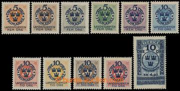 208329 - 1916 Mi.86-96, Landsturm (I) 5Ö+5Ö - 10Ö + 4.90Kr; kompletní