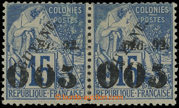 208334 - 1892 Yv.29+29a, overprint Allegory 0f05/15C as pair; lower p
