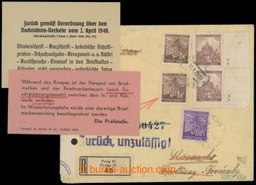 208345 - 1942 CENZURA  R-dopis zaslaný z Prahy na Slovensko, vrácený