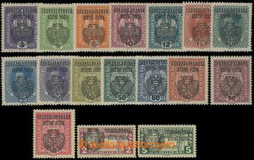 208372 - 1918 Pof.RV22-RV36, RV41-RV42, Pražský přetisk II., Znak, Ka