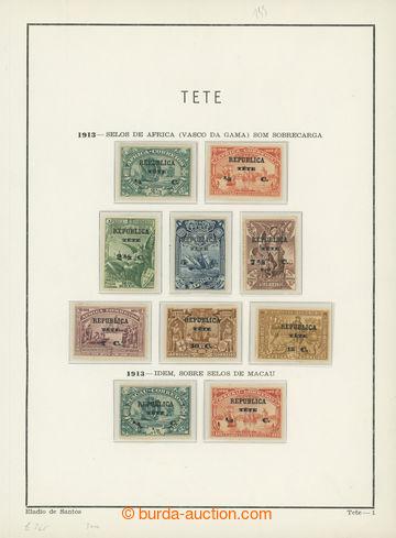 208383 - 1913 REPUBLICA TETE / QUELIMANE / sbírka na 6 listech, přeti
