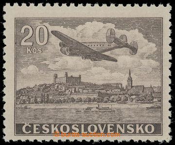 208387 - 1946 Pof.L22N, NEVYDANÁ Letecké motivy 20Kčs hnědá; svěží, v