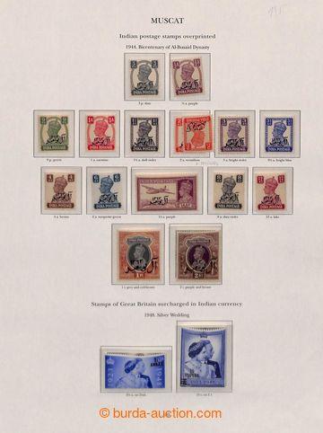 208390 - 1944-1951 [SBÍRKY]  MUSCAT - jako nezávislý arabský sultanát