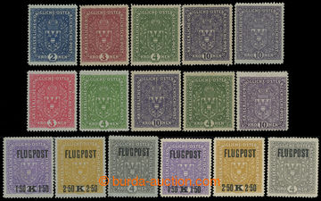 208421 - 1916-1918 VÝPLATNÍ / LETECKÉ - VELKÝ FORMÁT  sestava 16ks ho