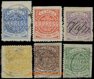 208443 - 1877-1880 SG.3, 4, 7, 8, 9, 11; kompletní série známek Expre