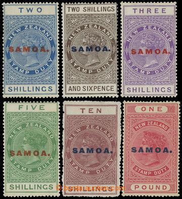 208444 - 1914-1924 SG.127-132, novozélandské Stamp Duty s přetiskem S