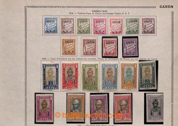 208448 - 1904-1933 [SBÍRKY]  sbírka na starých listech, mj. Mi.16-31,