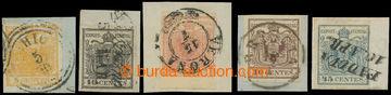 208478 - 1850 Ferch.1-5, série Znak 5-45Cts; vše HP, různé typy a bar