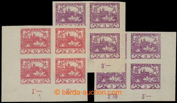 208516 -  Pof.2, 3h fialová, 2x pravý dolní rohový 4-blok s DV - zlom