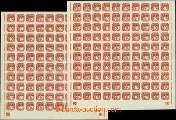 208542 - 1939 Pof.OT1, Přetiskové GD-OT 10h červená, 2 kompletní 100k