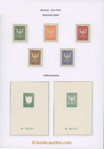 208564 - 1945 OLOMOUC  sestava 6ks číslovaných aršíků se zn. Olomouck