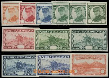 208581 - 1920 ZT  sestava 12ks nepřijatých návrhů s motivy Zborov, Št
