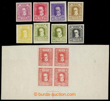 208582 - 1920 ZT  tiskárna Haase, sestava 8ks návrhů a 1 soutisku ve