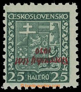 208620 - 1939 Sy.5PP, Znak 25h s převráceným přetiskem; lehká stopa,